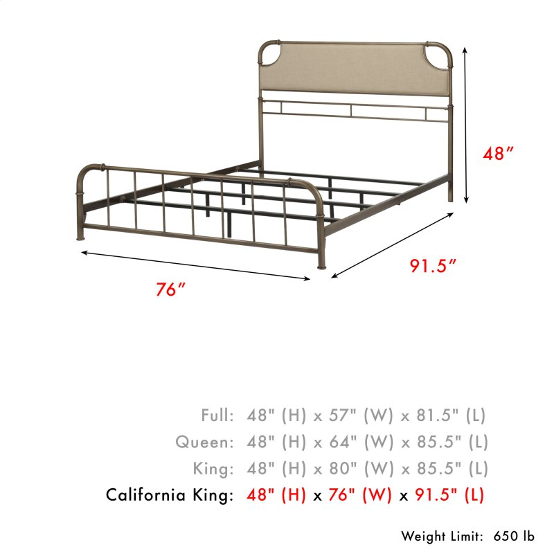 B41527 in by Fashion Bed Group in Kennesaw, GA - Dahlia Metal SNAP