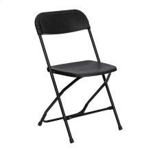 650 lb. Capacity Premium Black Plastic Folding Chair