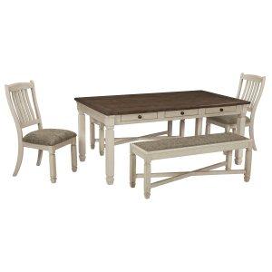 AshleySIGNATURE DESIGN BY ASHLEYBolanburg - Antique White 5 Piece Dining Room Set