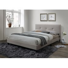 Jester Cream Tufted Upholstered Queen Bed