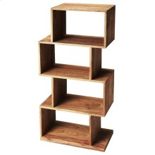 The ultra-modern Stockholm etagere will add style to your home. Its four boxes can be used to display family photos, collectables and trinkets on the many shelf spaces offered by this unique book case.