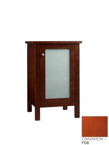 Bathroom Side Cabinet with Frosted Glass Door in Cinnamon