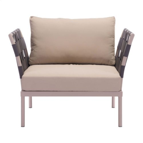 Glass Beach Seat Cushion Taupe