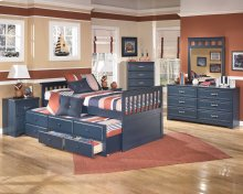 Leo - Blue 7 Piece Bedroom Set