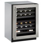 "U-Line 24"" Dual-zone Wine Refrigerator With Stainless Frame Finish and Field Reversible Door Swing (115 V/60 Hz Volts /60 Hz Hz)"