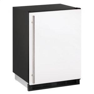 "U-Line1000 Series 24"" Solid Door Refrigerator With White Solid Finish and Field Reversible Door Swing (115 Volts / 60 Hz)"