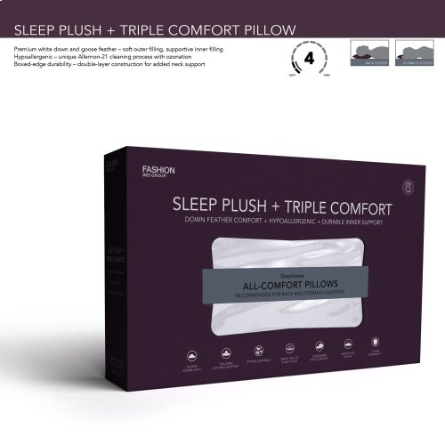 Sleep Plush + Triple Chamber Pillow, King