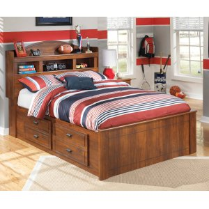 Ashley Furniture Barchan - Medium Brown 5 Piece Bed Set (Full)
