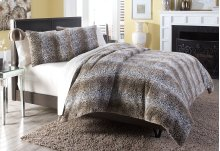 3 pc Queen Duvet Set Brown