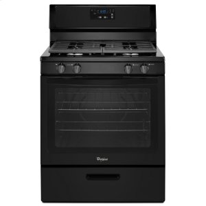 5.1 cu. ft. Freestanding Gas Range with Under-Oven Broiler - BLACK