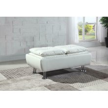 Dilleston Contemporary White Ottoman
