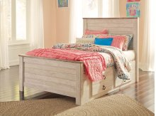 Willowton - White Wash 4 Piece Bed Set (Twin)