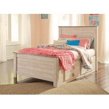 Willowton - Whitewash 4 Piece Bed Set (Full)