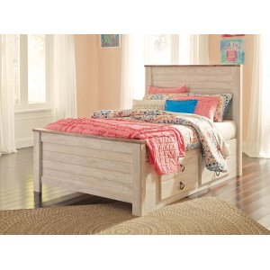 Ashley Furniture Willowton - Whitewash 4 Piece Bed Set (Twin)