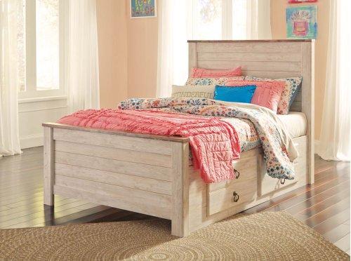 Willowton - White Wash 4 Piece Bed Set (Full)