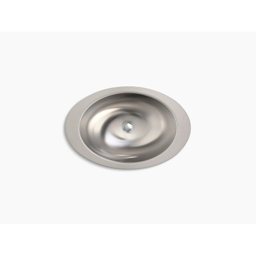 Oval Drop-in Bathroom Sink With Satin Finish