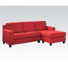 Red Mfb Rev. Chaise Sectional