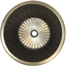 Bronze Round Flat Bottom Fluted