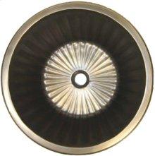 Bronze Round Flat Bottom Fluted