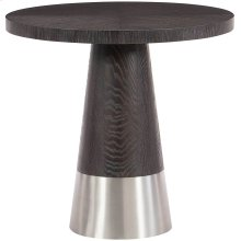 Decorage Round End Table in Cerused Mink (380)
