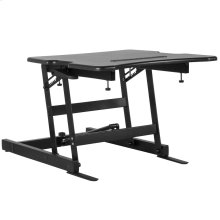 """22""""W Black Sit / Stand Height Adjustable Desk with Height Lock Feature"""