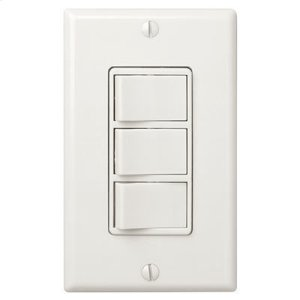 BroanMulti-Function Control, Ivory, Three Switch Control With Four-Function Control, Heater/Fan/Light, Night-Light