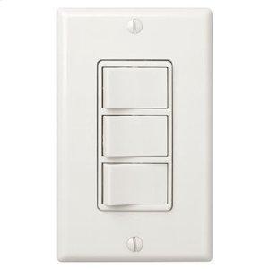 BroanMulti-Function Control, Ivory, Three Switch Control With Four-Function Control, Heater/Fan/Light, Night-Light