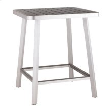Megapolis Bar Table Brushed Aluminum