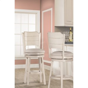 Hillsdale FurnitureClarion Swivel Counter Stool - Sea White Wood Finish