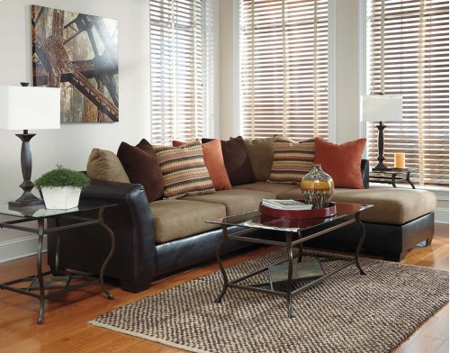 Armant Contemporary Mocha Sectional
