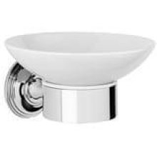 City Bronze White ceramic soap holder