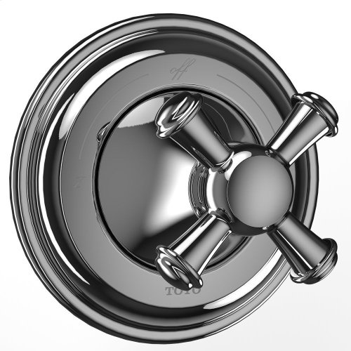 Vivian Two-Way Diverter Trim with Off - Cross Handle - Polished Chrome Finish