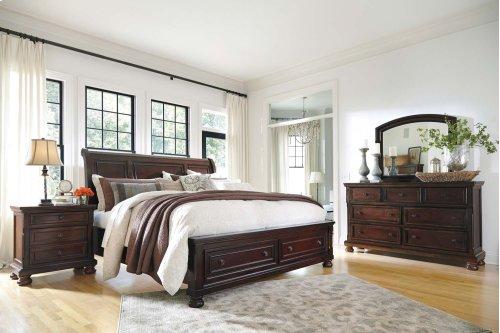 Sleigh Storage King Bed