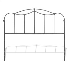 Braylen Metal Headboard Panel with Straight Spindles and Detailed Castings, Weathered Nickel Finish, California King