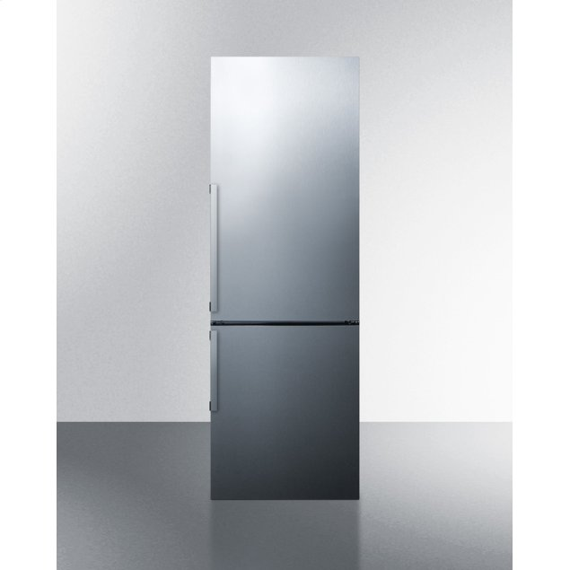 Summit Frost-free Energy Star Certified Bottom Freezer Refrigerator In Stainless Steel With Digital Controls; Replaces Ffbf245ssx