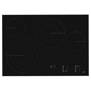 "Jenn-AirOblivian Glass 30"" Electric Radiant Cooktop with Glass-Touch Electronic Controls Black"