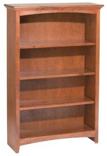 """GAC 48""""H x 30""""W McKenzie Alder Bookcase in Antique Cherry Finish"""