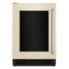 """24"""" Panel Ready Beverage Center with Glass Door Panel Ready"""