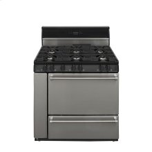 36 in. Freestanding Sealed Burner Gas Range in Stainless Steel
