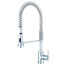 Chrome Parma® Pre-Rinse Single Handle Spring Spout Kitchen Faucet
