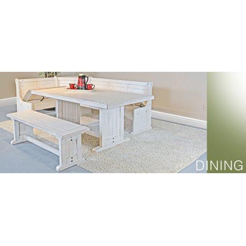 Bayside Long Bench & Corner Back, Wood Seat