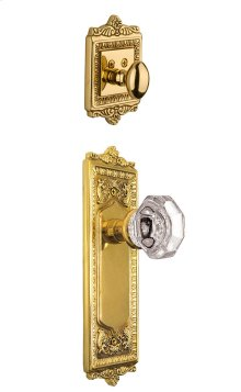 Nostalgic - Handleset Interior Half - Egg and Dart Plate with Waldorf Knob in Polished Brass