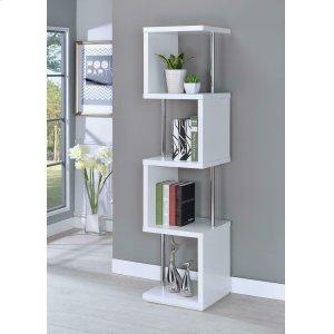 CoasterModern White Four-tier Bookcase