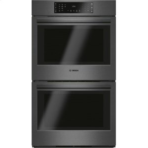 Bosch800 Series Double Wall Oven 30'' Black Stainless Steel HBL8642UC