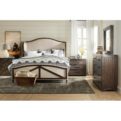 Bedroom Roslyn County Cal King Deconstructed Uph Panel Bed