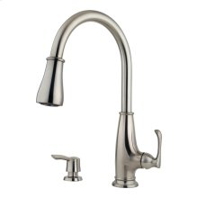 Stainless Steel 1-Handle Pull-Down Kitchen Faucet