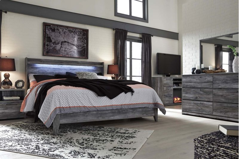 Baystorm Gray 2 Piece Bed Set King