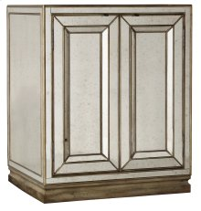 Bedroom Sanctuary Two-Door Mirrored Nightstand - Visage