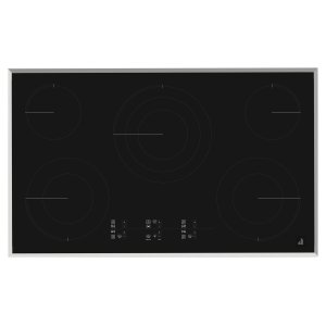"JENN-AIRLustre Stainless 36"" Electric Cooktop with Glass-Touch Electronic Controls Stainless Steel"