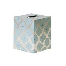 Kleenex Box Blue and Silver PATTERN.